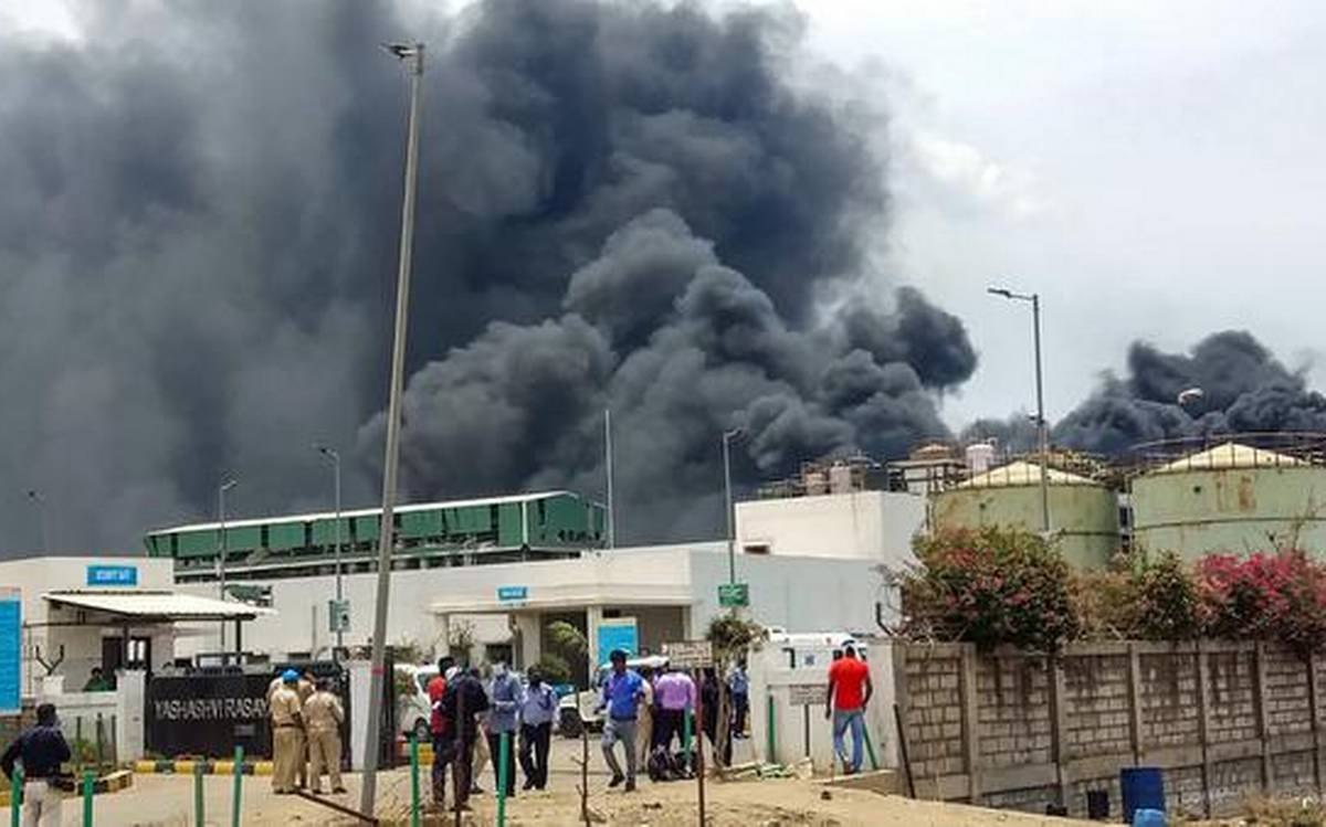 Fire Breaks Out at Chemical Factory news