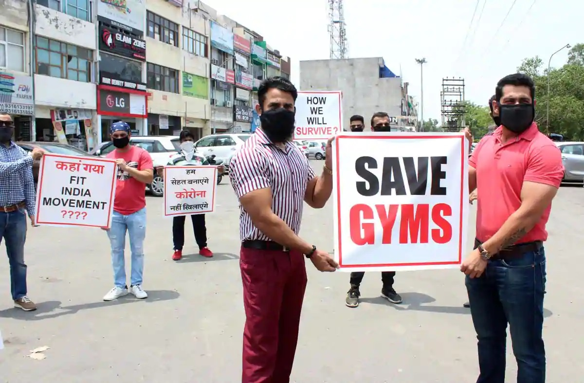 Gym Owner Found Protesting Near LT Governor's Office
